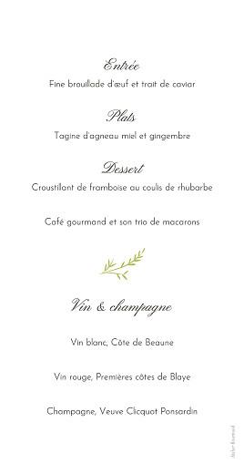 Menu de mariage Brins d'été bambou - Page 2