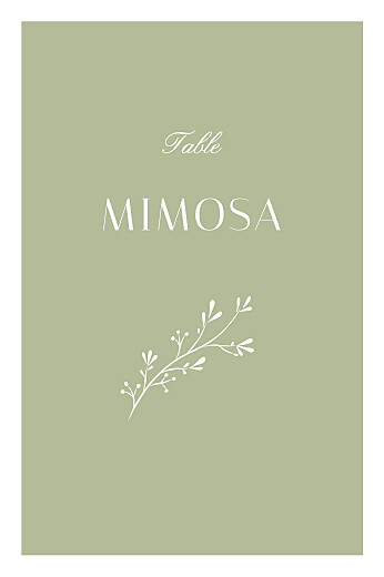 Marque-table mariage Brins d'été lichen