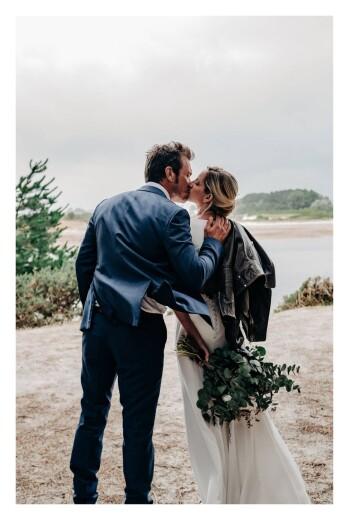 Carte de remerciement mariage Brins d'été ocre