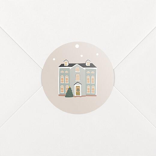 Stickers pour enveloppes vœux Cottage rose - Vue 2