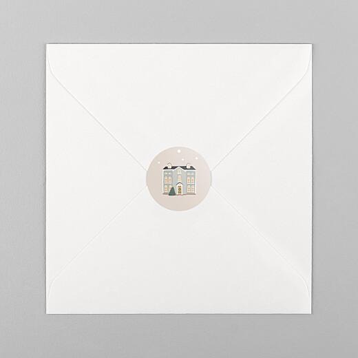 Stickers pour enveloppes vœux Cottage rose - Vue 1