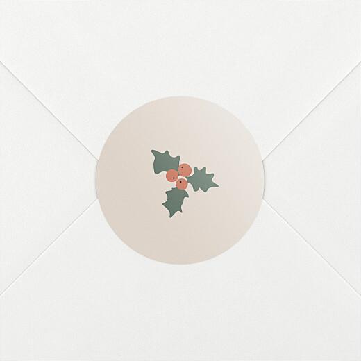 Stickers pour enveloppes vœux Cottage (houx) beige - Vue 2