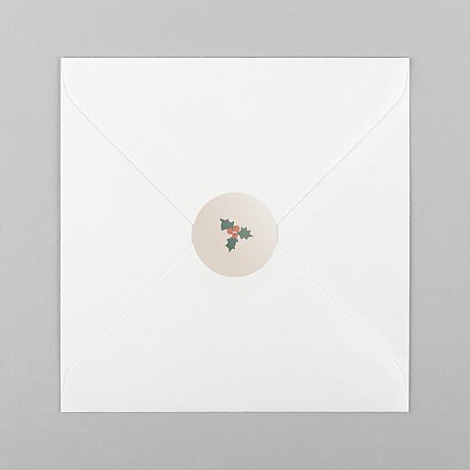 Stickers pour enveloppes vœux Cottage (houx) beige - Vue 1