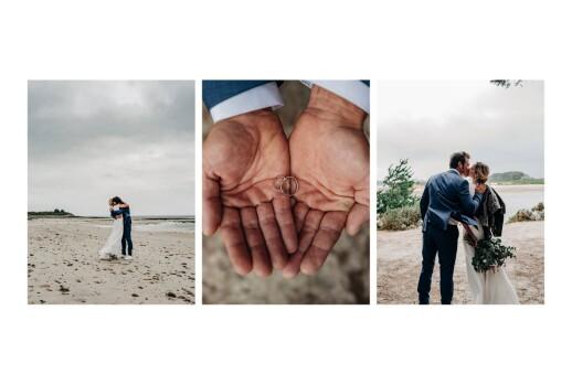 Carte de remerciement mariage Brins d'été ocre - Page 2