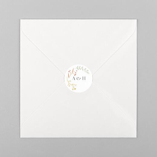 Stickers pour enveloppes mariage Brins d'été ocre - Vue 1