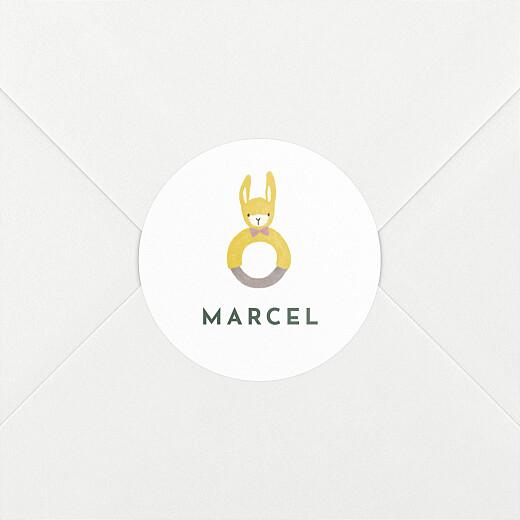 Stickers pour enveloppes naissance Petits habits d'été beige - Vue 2