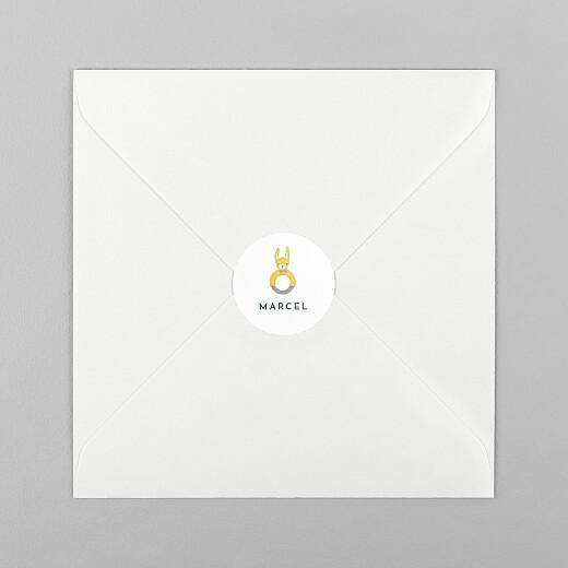 Stickers pour enveloppes naissance Petits habits d'été beige - Vue 1