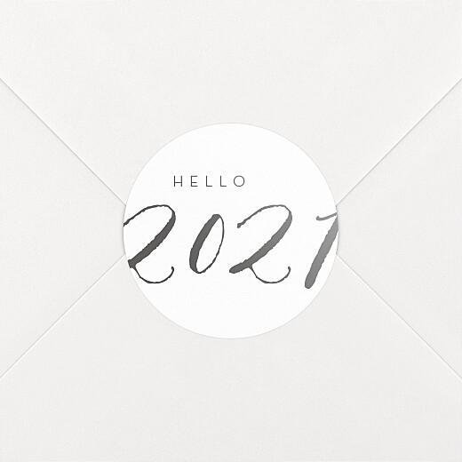 Stickers pour enveloppes vœux Little big year hello - Vue 2