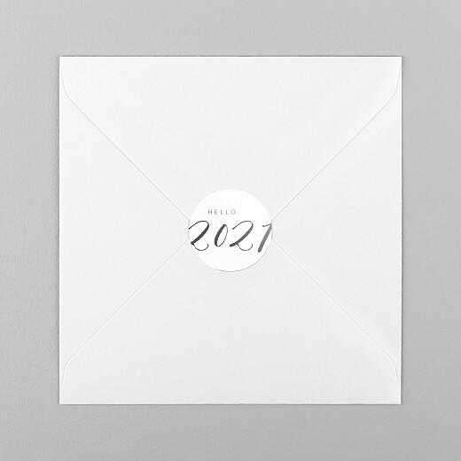 Stickers pour enveloppes vœux Little big year hello - Vue 1