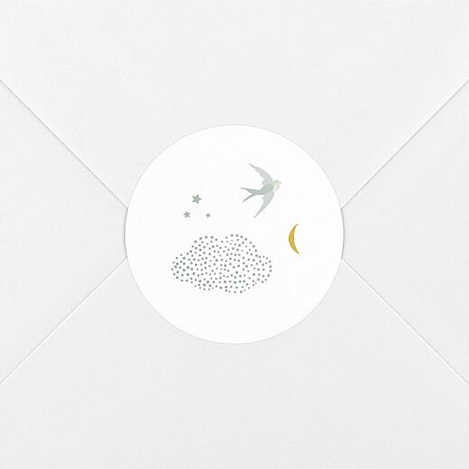 Stickers pour enveloppes naissance Nuage de lait bleu - Vue 2