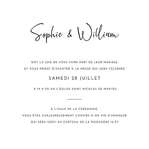 Faire-part de mariage Intemporel blanc - Page 3