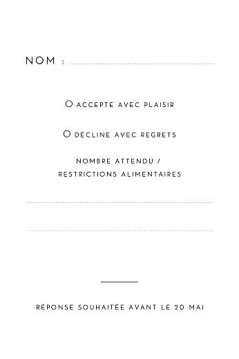 Carton réponse mariage Intemporel (portait) noir - Page 2