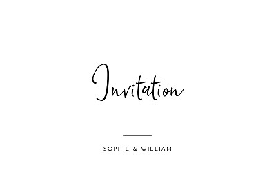 Carton d'invitation mariage Intemporel (paysage) noir finition