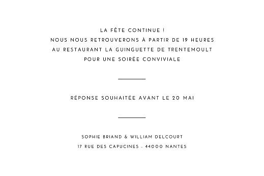 Carton d'invitation mariage Intemporel (paysage) noir - Page 2