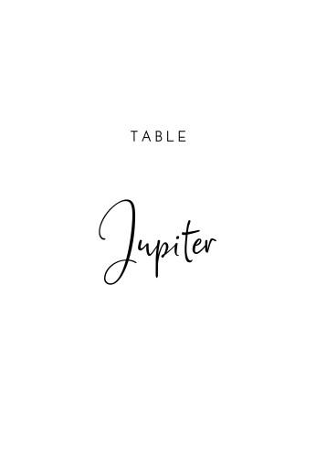 Marque-table mariage Intemporel blanc