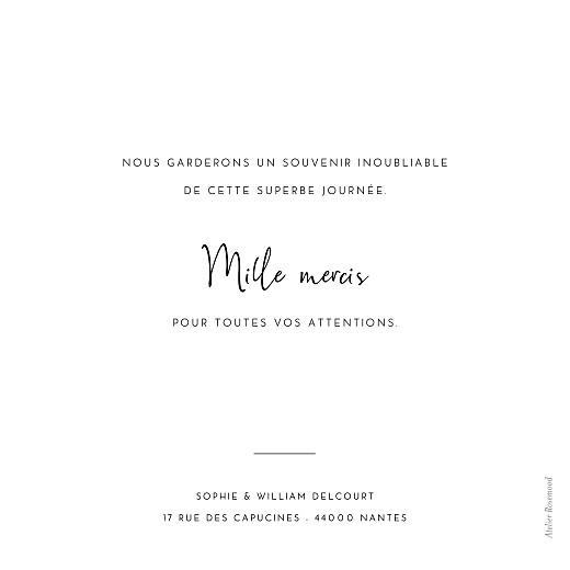 Carte de remerciement mariage Intemporel noir - Page 2