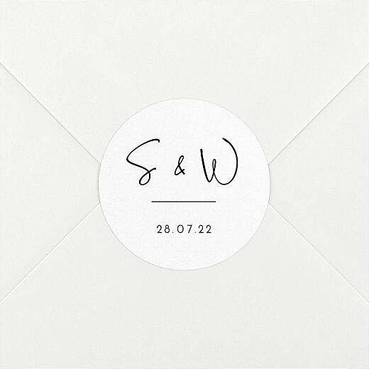 Stickers pour enveloppes mariage Intemporel noir - Vue 2