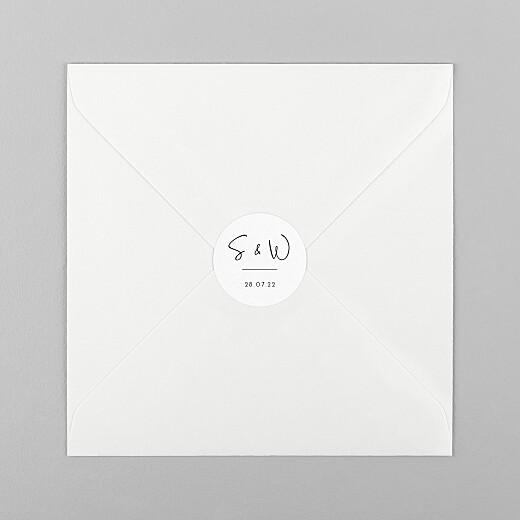 Stickers pour enveloppes mariage Intemporel noir - Vue 1