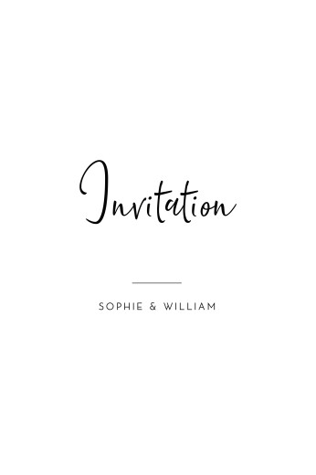 Carton d'invitation mariage Intemporel (portrait) noir