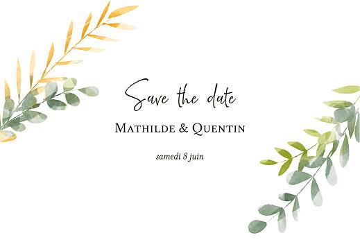 Save the Date Enchanté (dorure) vert