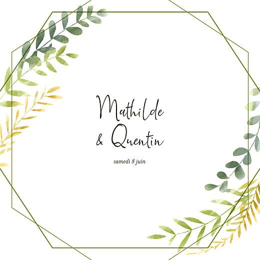 Faire-part de mariage Enchanté (4 pages) vert
