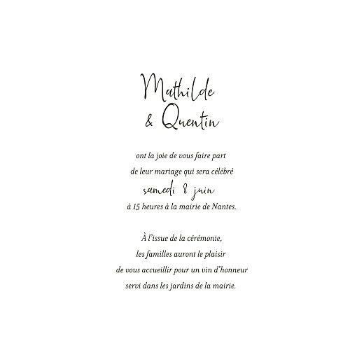 Faire-part de mariage Enchanté (4 pages) vert - Page 3