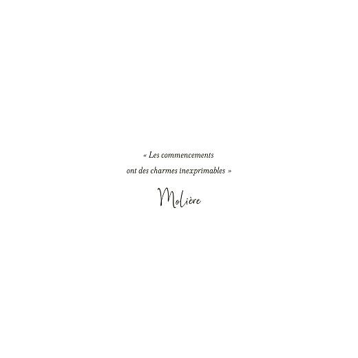Faire-part de mariage Enchanté (4 pages) dorure vert - Page 2