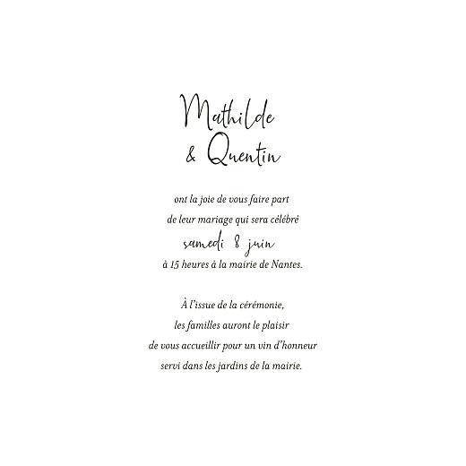 Faire-part de mariage Enchanté (4 pages) dorure vert - Page 3