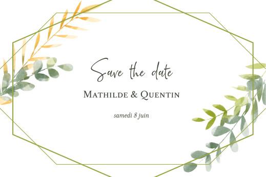 Save the Date Enchanté vert