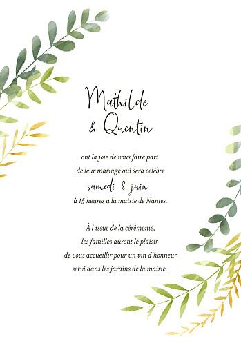 Faire-part de mariage Enchanté (dorure) vert