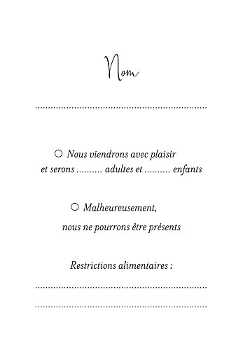Carton réponse mariage Enchanté vert - Page 2