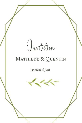 Carton d'invitation mariage Enchanté vert