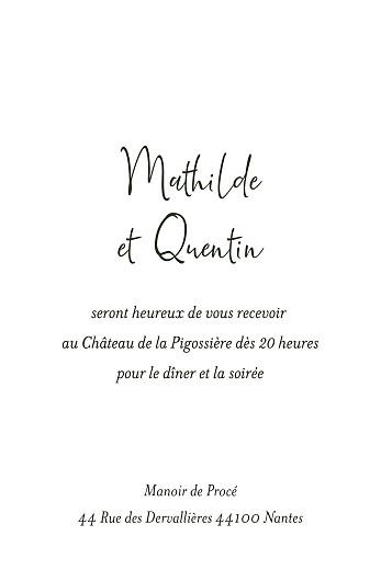 Carton d'invitation mariage Enchanté vert - Page 2