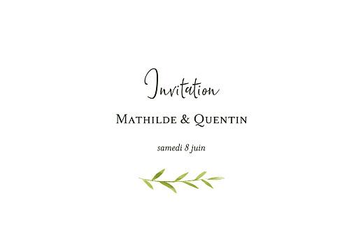 Carton d'invitation mariage Enchanté (dorure) vert