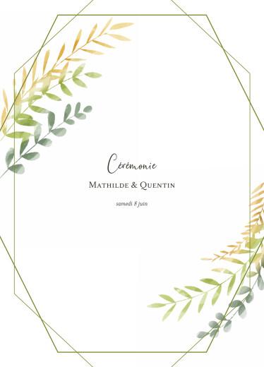 Livret de messe mariage Enchanté vert