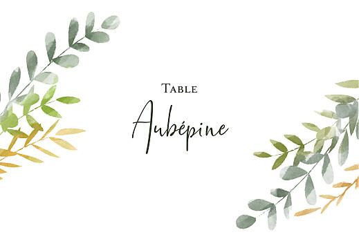 Marque-table mariage Enchanté (dorure) vert