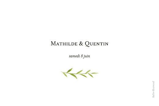 Marque-table mariage Enchanté (dorure) vert - Page 2