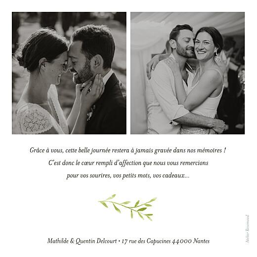 Carte de remerciement mariage Enchanté vert - Page 2