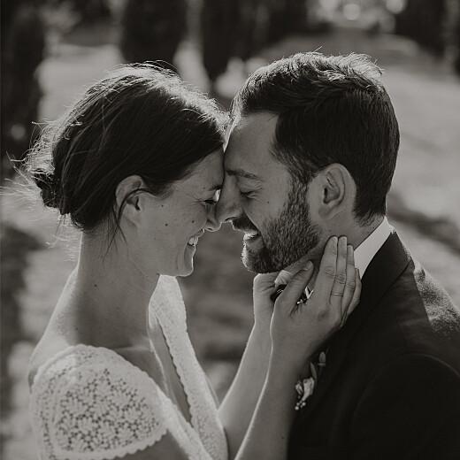 Carte de remerciement mariage Enchanté (dorure) vert