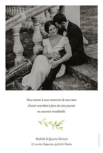 Carte de remerciement mariage Enchanté (portrait) vert - Page 2