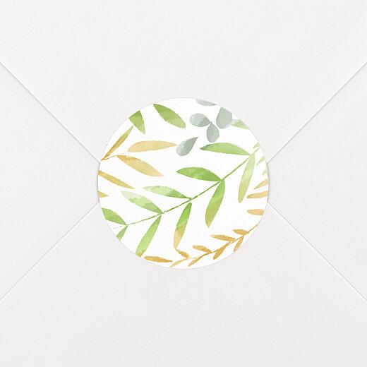 Stickers pour enveloppes mariage Enchanté vert - Vue 2