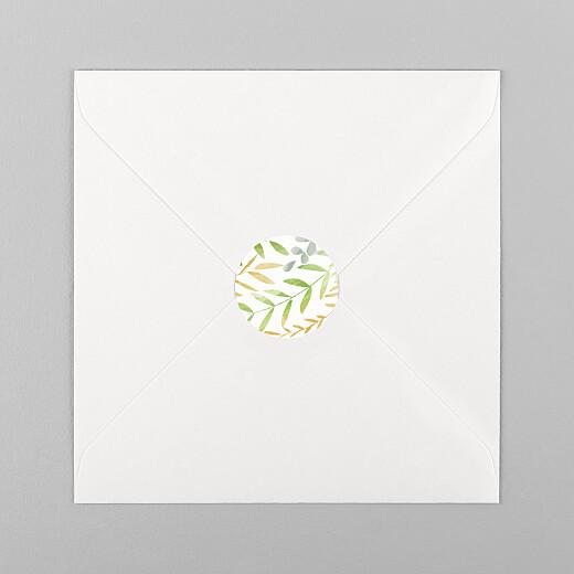 Stickers pour enveloppes mariage Enchanté vert - Vue 1