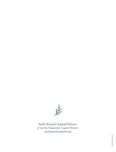 Faire-part de mariage Ronde des prés portrait (dorure) bleu - Page 2