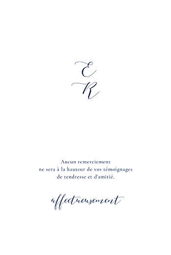 Carte de remerciement mariage Ronde des prés (dorure) bleu