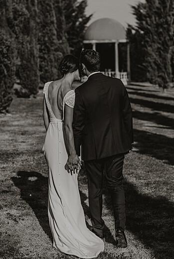 Carte de remerciement mariage Enchanté (portrait) dorure vert