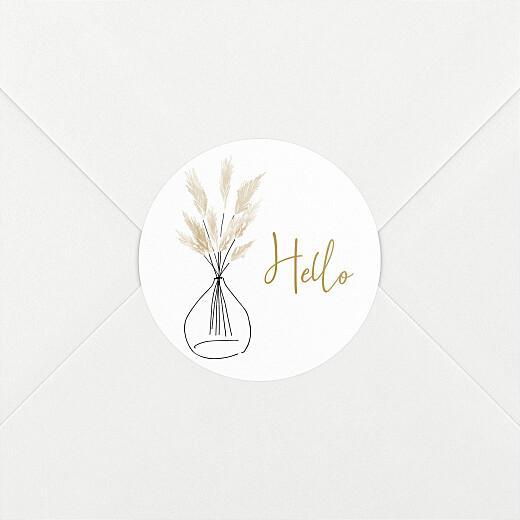 Stickers pour enveloppes naissance Green family blanc - Vue 2