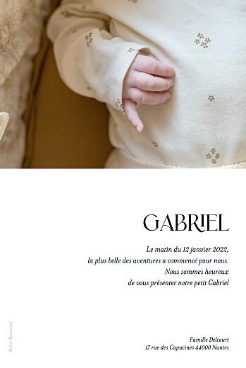 Faire-part de naissance Simplement bleu marine - Page 2