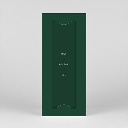 Carte de voeux Elegant sapin (marque-page) vert - Vue 3