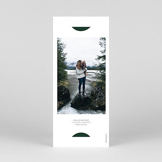 Carte de voeux Elegant sapin (marque-page) vert - Vue 4
