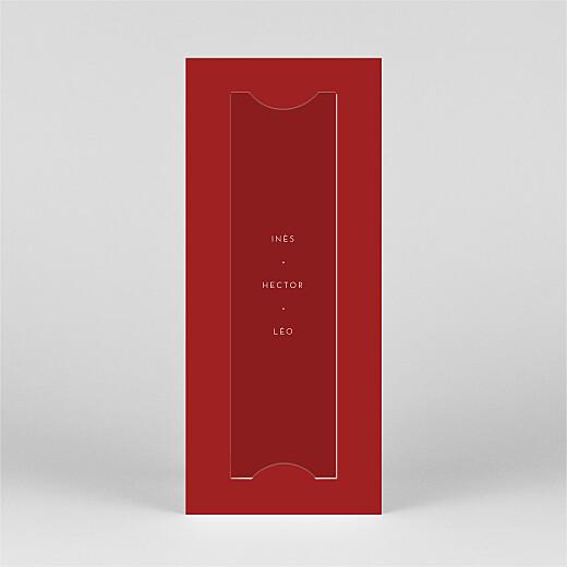 Carte de voeux Elegant cœur (marque-page) rouge - Vue 3